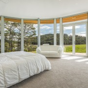 ​​​​​​​Master suite with quite a view. The elegant gray, white