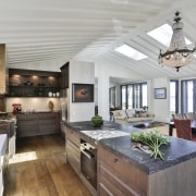 For this kitchen, a second oven was introduced, gray