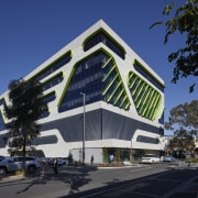 The architects of the VicRoads building say the architecture, building, city, commercial building, corporate headquarters, design, facade, mixed-use, VicRoads, wrap around cladding