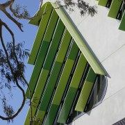 Tree meets tree-inspired facade in the new VicRoads architecture, facade, green, house, plants, trees, urban design