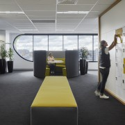 Lockers provide a personal base for staff in architecture, design, furniture, interior design, locker area, VicRoads fitout