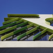 Vibrant anodised louvres on the VicRoads building in architecture, urban design, VicRoads building, Anodised louvres, gum trees, Apartments, Commercial