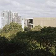 The SDE4 building incorporates aluminium mesh cladding on architecture, building, city, cityscape, downtown, metropolis, metropolitan area, mixed-use, neighbourhood, tower block, urban area, urban design, university,  SDE4 building, aluminium mesh cladding, energy efficiency