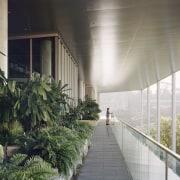 The contemporary, net-zero energy SDE4 building echoes the architecture, building, facade, house, real estate, gray, black