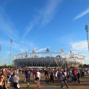 A report on contemporary stadia by architects Populous architecture, arena, crowd, event, fair, festival, fun, landmark, sky, sport venue, stadium, tourism, tourist attraction, teal