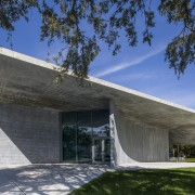The graceful fluidity of concrete is celebrated in architecture, building, concrete, facade, reinforced concrete, thomas P Murphy Design Studio, University of Miami School of Architecture