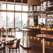Pride of place – The Churchill occupies part architecture, bar, the churchill, Furniture, interior design, rooftop, Four Points Sheraton, Izzard Design, Russell Property Group