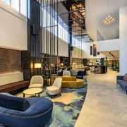 As project architects for Four Points by Sheraton architecture, furniture, lobby, Four Points Sheraton,  hotel, Dalman Architects