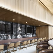 Giant formwork lends drama to Hotel Monville's expansive architecture, building, ceiling, design, floor, furniture, house, interior design, lobby, mixed-use, property, real estate, room, white