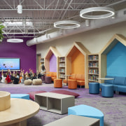 The colourful school environments help with children's spacial gray