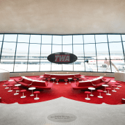 ​​​​​​​The Sunken Lounge at the TWA Hotel features architecture, Sunken Lounge, TWA Hotel