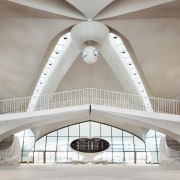 Eero Saarinen's original soaring terminal design – complete arch, architecture, building, ceiling, house, interior design, room, symmetry, white, gray