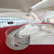 ​​​​​​​:Looking down on the terminal from the London architecture, London Club, TWA Hotel, Lubrano Ciavarra Architects