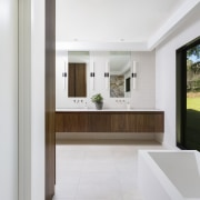 ​​​​​​​With privacy not an issue, large glass panels white