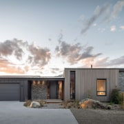 Entry to this home is essentially from the