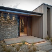 Welcome! Schist cladding is echoed by an interior