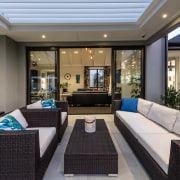 Occupants of the north-facing covered outdoor living area