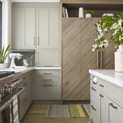 ​​​​​​​Overhanging cabinets were avoided in this kitchen, while
