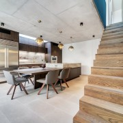 ​​​​​​​Wood stairs provide a natural complement to this