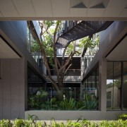 Naiipa 21 - architecture | building | courtyard architecture, building, courtyard, facade, house, residential area, black, gray