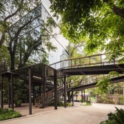 Naiipa 24 - architecture | house | outdoor architecture, house, outdoor structure, plant, real estate, skyway, tree, walkway, brown, black