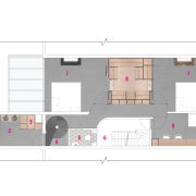 Plan of apartment upper floor renovation by Cantero apartment, architecture, artwork, building, drawing, floor plan, house, land lot, plan, property, room, white