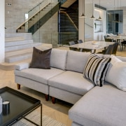 Despite restrictive construction considerations, the home achieves a