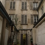 Before shot - alley | apartment | architecture alley, apartment, architecture, building, courtyard, facade, home, house, infrastructure, neighbourhood, property, real estate, residential area, street, town, window, black