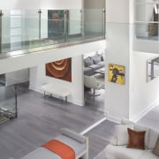 A bird's eye view of the living spaces