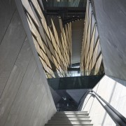 Kolon One & Only Tower – Morphosis Architects. architecture, building, daylighting, line, stairs, structure, gray, black