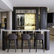 A pair of large custom-designed, bronze Axolotl finish,