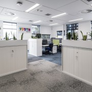 The offices are light-filled and energy efficient thanks