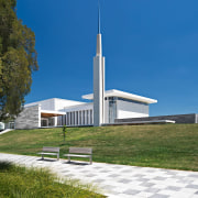 Public Architecture: David O Mckay Stake Centre by architecture, building, church, house, place of worship, sky, brown, blue