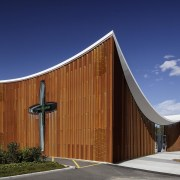 Public Architecture: Te Manawa Atawhai Catherine Mcauley Centre architecture, building, chapel, facade, house, sky, blue
