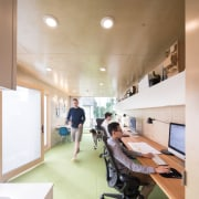Architect in residence - ceiling | daylighting | ceiling, daylighting, floor, flooring, interior design, office, white