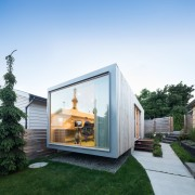 Architect in residence - architecture | backyard | architecture, backyard, cottage, facade, home, house, property, real estate, shed, siding, window, white