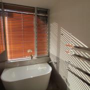 Roar Northcurlcurl House 37S bathroom, interior design, property, real estate, room, window, window blind, window covering, brown
