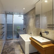 Roar Northcurlcurl House 38S architecture, bathroom, floor, interior design, real estate, room, tile, gray