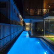 Roar Northcurlcurl House 42S - architecture | estate architecture, estate, home, house, leisure, leisure centre, light, lighting, night, pool, property, real estate, reflection, sky, swimming pool, water, black