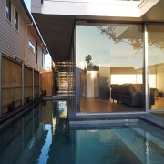 Roar Northcurlcurl House 43S architecture, estate, home, house, interior design, lighting, property, real estate, swimming pool, window, black