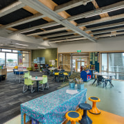 The new school contains wool wall insulation and