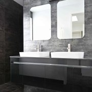 The luxurious master ensuite is fitted with floor