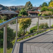 Replace Your Old Timber Deck With A TimberTech balcony, estate, fence, handrail, home, house, outdoor structure, property, real estate, residential area, walkway, gray