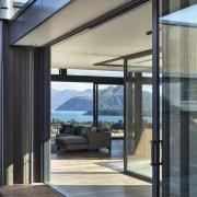 Rugged sliding doors blur the lines between indoors