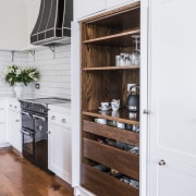 The working pantry – with an American oak-finished