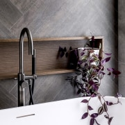Striking herringbone pattern tilework, White American Oak elements