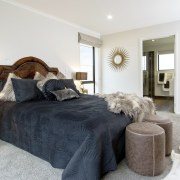 The master bedroom is served by a spacious