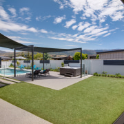 The glass pool fencing was selected to maintain