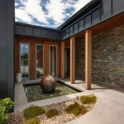 The home, as well as the outdoor spaces,