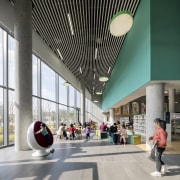Opened in 2020, the new library is spacious
